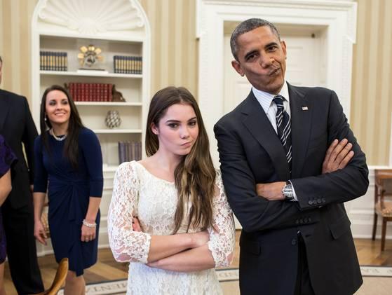 Fue tan viral su foto, que el mismo presidente Obama hizo la mueca