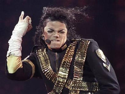 File photo shows singer Michael Jackson performing a song during a concert from his Dangerous world tour in Sao Paulo